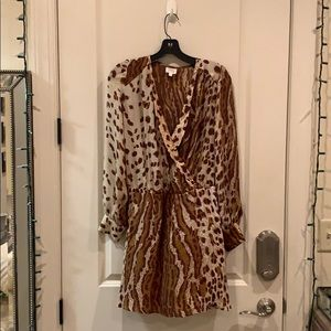 Leopard Long Sleeve Parker Dress